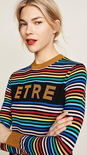 Etre Cecile Women's Etre Boyfriend Crew Knit Sweater, Multi Stripe, Large by Etre Cecile (Image #6)