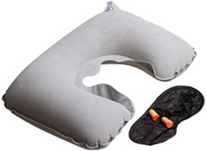 Bianco Aikesi Cuscino Portatile Gonfiabile Cuscino per il Collo Ufficio