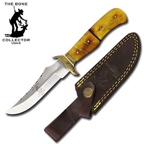 Bone Collector Hunting Knife 9″ Stainless Steel Blade Yellow Bone Hand Made Full Tang