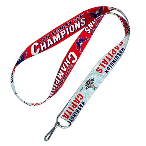 WinCraft Washington Capitals Official NHL 2018 National Champions Lanyard Key Strap Keychain by 225764