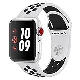 Apple Watch Nike+ Cellular, 38 mm, Alumínio Prata, Pulseira Esportiva Nike Preto/cinza e Fecho Clássico - Mqm72bz/a