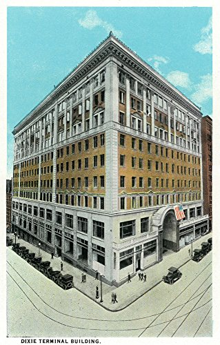 Cincinnati, Ohio - Dixie Terminal Building Exterior (12x18 Art Print, Wall Decor Travel Poster) (Ohio Terminal)