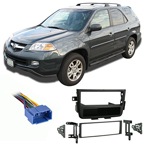 Fits Acura MDX 2001-2004 Single DIN Aftermarket Harness Radio Install Dash (Acura Mdx Aftermarket)