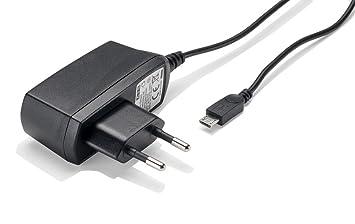 Slabo Cargador Red Micro USB - 1000mA - para BQ Aquaris A4.5 | Aquaris E5 | Aquaris V | Aquaris X5 | Aquaris X5 Plus Cargador rápido de Viaje para el ...