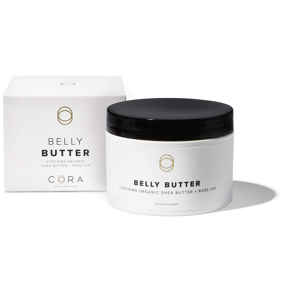 Cora Belly Butter Made with Whipped Organic Shea Butter & Rose Hip - Non-Greasy Pregnancy Skincare to Help Increase Skin Elasticity (8oz)