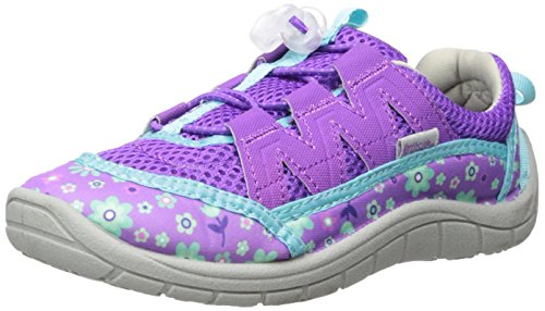 Sandals Girls Aqua (Northside Girls' Brille II Water Shoe, Purple/Aqua, Size 10 M US Toddler)