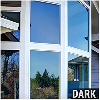 BDF PRBL Window Film Premium Color High Heat Control and Daytime Privacy Blue (36in X 7ft)