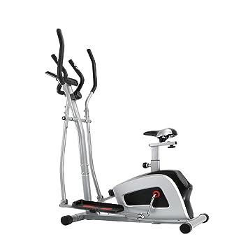Feierdun bicicleta estática elíptica 2 en 1 con asiento y fácil ordenador 2 in 1 Cardio