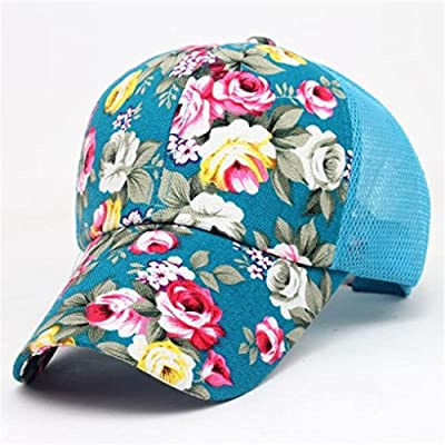 Clearance, Vintage Floral Mesh Hats, Embroidery Cotton Baseball Cap Boys Girls Snapback Hip Hop Flat Hat Sun Caps from Challyhope