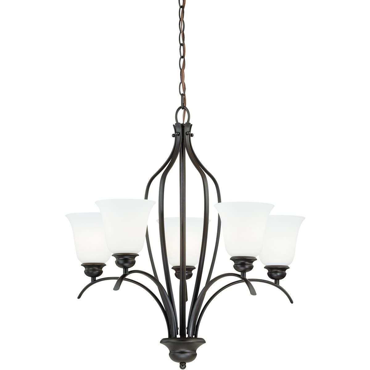 Chandeliers 5 light fixtures with new bronze finish steel material medium 26 500 watts amazon com