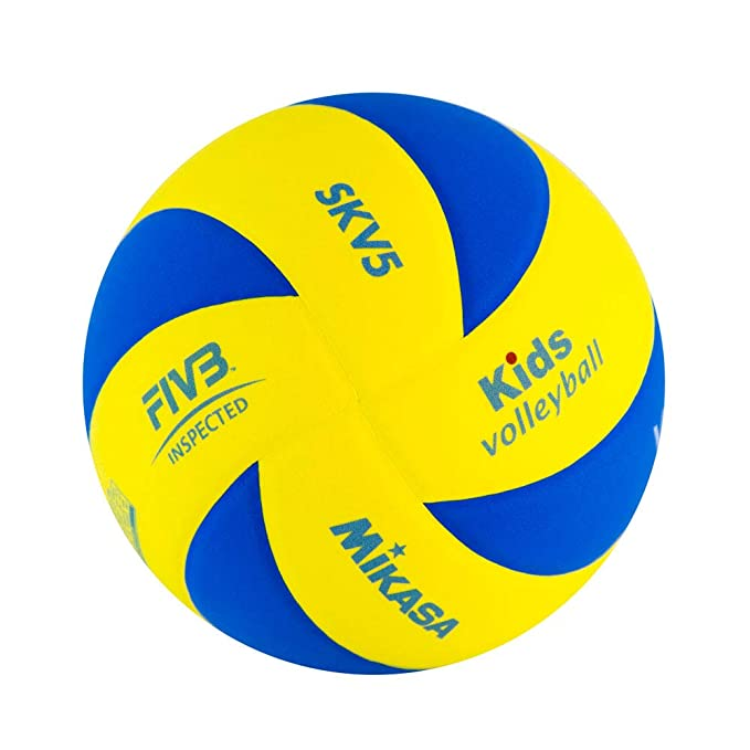 MIKASA SK-V5 (Kids) Balón termosoldado, Unisex, Amarillo/Azul, 5 ...