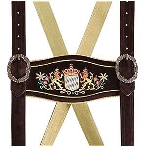 German Bavarian Suspender, Short Lederhosen Suspender, Trachten Oktoberfest Kneibund Suspender