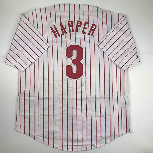 Unsigned Bryce Harper Philadelphia Pinstripe Custom Stitched Baseball Jersey Size Men's XL New No Brands/Logos