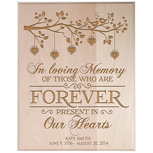 (LifeSong Milestones Personalized Wedding Memorial Gift, Sympathy Wall Plaque, in Loving Memory of Those Who are Forever Present, Custom Engraved Plaque Measures 12x15 USA Made (Maple Solid Wood))