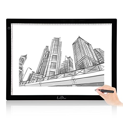 LitEnergy 32.5 Inch Diagonal A2 Drawing Light Box for Tracing by LitEnergy