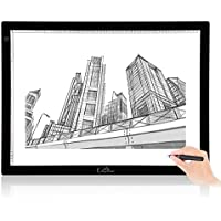 LitEnergy 32.5 Inch Diagonal A2 Drawing Light Box for Tracing
