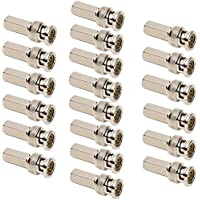 OdiySurveil(TM) 20PCS BNC Male Twist-on Coax Coaxial Connector for CCTV Security Camera