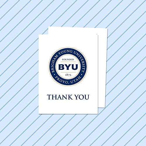 Fan Frenzy Brigham Young University BYU Cougars Thank You Cards with Envelope 10-pack
