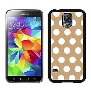 BINGO wholesale Polka Dot Brown and White Samsung Galaxy S5 Case Black Cover wangjiang maoyi