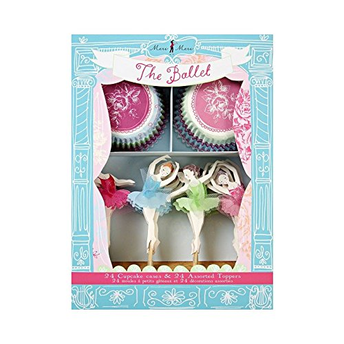 Meri Meri The Ballet Cupcake Kit - Pack of 6 by Ballet