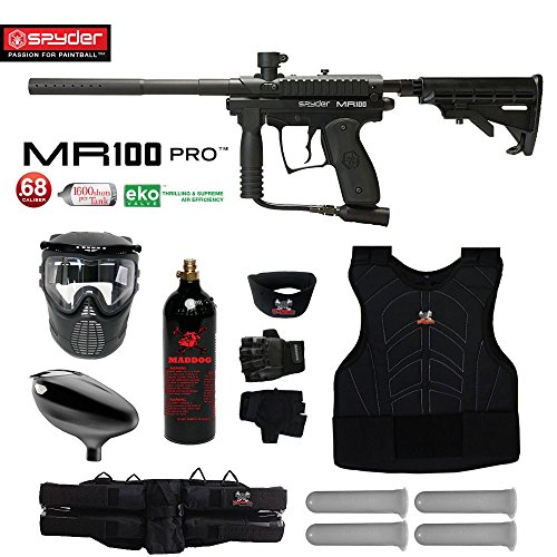 MAddog Spyder MR100 Pro Starter Protective CO2 Paintball Gun Package – Black Review