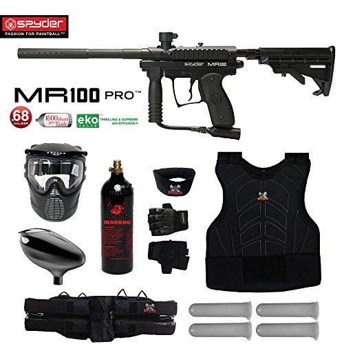 MAddog Spyder MR100 Pro Starter Protective CO2 Paintball Gun Package - (Semi Pro Paintball Gun)