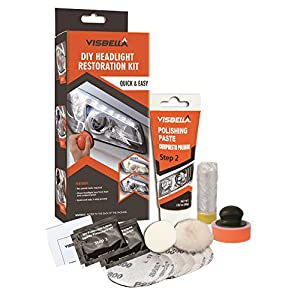 Visbella DIY Vehicle Headlight Restoration Kit, Manual, Quick Restore and UV Protection