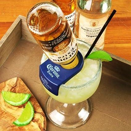 Soporte de pared para botellas CoronaRita y goleta de cristal | Set para preparar CoronaRita,