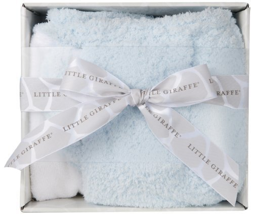 Little Giraffe Splash and Dry Blanket Gift Set, Blue by Little Giraffe by Little Giraffe