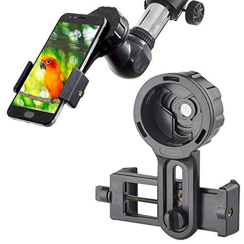 Cell Phone Adapter Mount - Tiaoyeer Cellphone Smartphone Quick Photography Adapter Mount Compatible Binocular Monocular Spotting Scope Telescope Microscope (Black) from Tiaoyeer