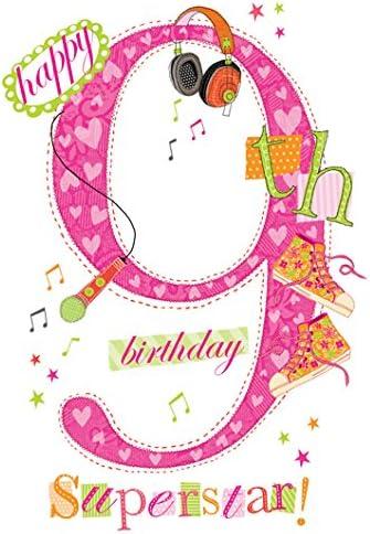 carte anniversaire fille 9 ans Boulier Cards Carte d'anniversaire 9 ans pour fille: Amazon.fr