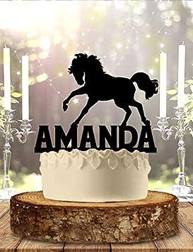Decoración personalizada para tarta de caballo