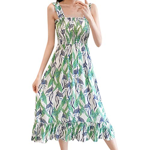 Sue Wong Champagne - iHPH7 Sundresses Casual Sexy Summer Bodycon Long Maxi Dresses Floor Length Sleeveless Plus Size Bohemian Beach Casual Ladies Print Mid-Calf Dress Women's (M,8- Green)