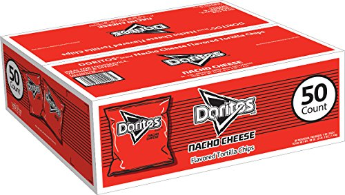 Doritos Nacho Cheese Flavored Tortilla Chips, 1 Ounce Bags (50 Count)