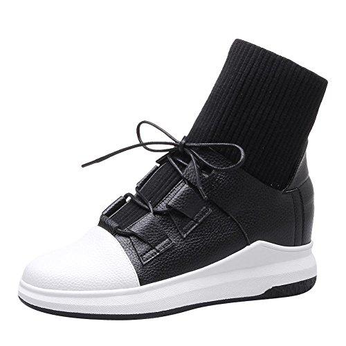 Mee Shoes Damen kurzschaft mit Schnüre zweifarbig Sportschuhe