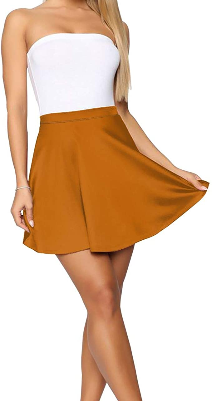 Skirt roses flared skirt