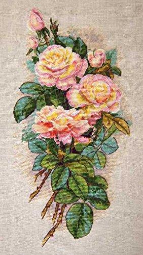 Merejka Vintage Roses Cross Stitch - Vintage Rose Stitch Cross