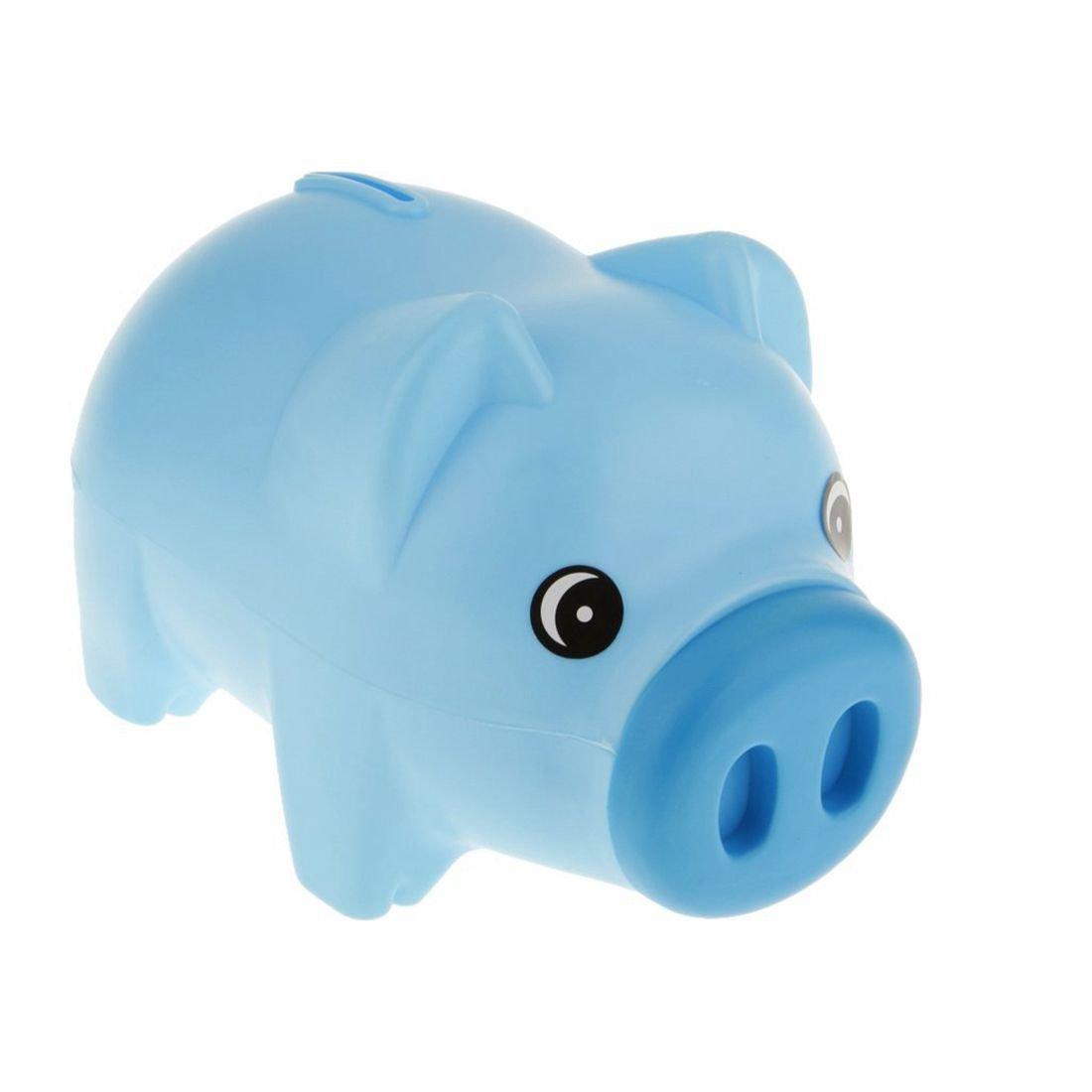 SODIAL Caja de dinero animal de la hucha azul plastico Monedas de la economia de Tresorerie regalo de los ninos de los ninos
