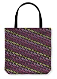 Gear New Shoulder Tote Hand Bag, Ethnic Boho Pattern Print Repeating Cloth Design Wallpaper, 13x13, 6038059GN