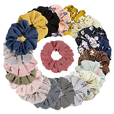 Tobatoba 20 Pack Hair Scrunchies Chiffon Hair Ties Elastic Hair Bands Hair Ties For Girl/Women (20 Colors by Tobatoba