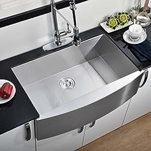 Comllen 30 Inch Handmade Apron Undermount Kitchen Sink