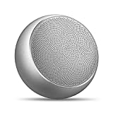 Portable Wireless Bluetooth Speakers,Bopmen Mini Stereo Outdoor Rechargeable Speaker with Mic,TF Card,HD Sound & Enhanced Bass,Metal Shell Compact Bluetooth Speaker for iPhone iPad Samsung(Silver)