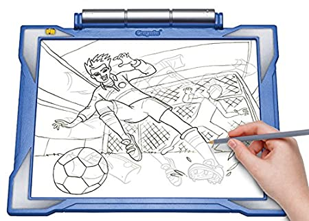 Amazon Crayola Light Up Tracing Pad Blue Coloring Board For Kids Gift Toys Boys Ages 6 7 8 9 10 Games