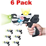[Value Bundle] Cosmic Space Gun Blaster with LED Lights & Sounds - Kids Party Favors Bulk (Set of 6)