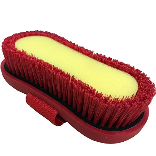 Roma Soft Grip Brush with Sponge One Size Red by Roma