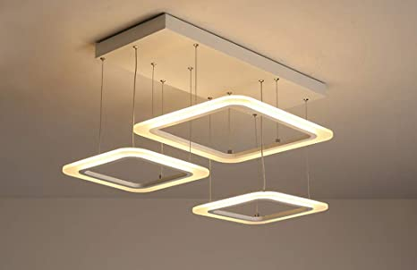Suspension led modern luster contemporain design carré