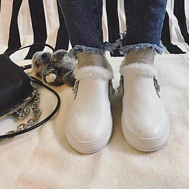 De Confort Casual Bajo Gll Cuero amp;xuezi Slip Taco Zapatos White Blanco Plano ons Negro Mujer Primavera Y wzqHqtp
