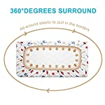 Allo-Fitted-Crib-Sheets-100-Safe-Cotton-Soft-Breathable-Hypoallergenic-Sheets-for-Baby-Fits-Standard-Crib-Mattress-and-Toddler-Mattress-1-Pack-Planet