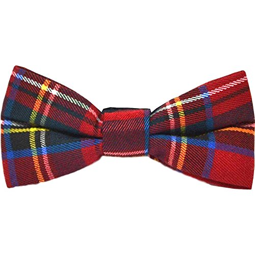 Traditional Red Tartan Check Bow Tie, Plaid, Stewart Tartan, Scotland, Highland