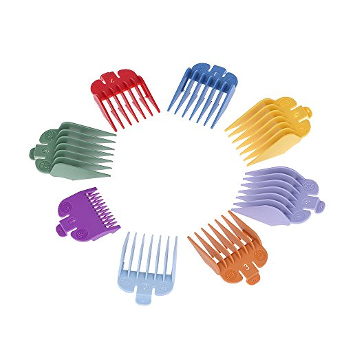 8 Sizes Colorful Hair Clipper Limit Comb Guide Attachment Set for Electric Hair Clipper Shaver Haircut Accessory